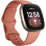 Fitbit Versa 3, Health & Fitness Smartwatch with GPS, 24/7 Heart Rate, Voice Assistant & up to 6+ Days Battery, Pink Clay/Sof