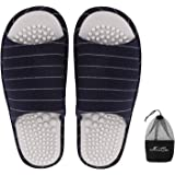 Unisex Home Foot Massage Acupressure Slippers Couple Non-Slip Sole Massage Foot Slipper Cotton House Sandals Indoor Casual Op