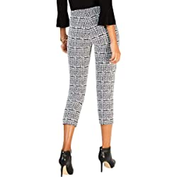 Michael Michael Kors Womens Plaid Cropped Cigarette Pants