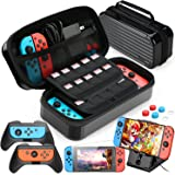 HEYSTOP 11 en 1 Funda Compatible con Nintendo Switch, Estuche portátil Incluye 2 Grips para Nintendo Switch, PlayStand Ajusta