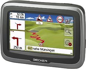 Becker Mamba.4 CE LMU Motorrad-Navigationsgerät (Blendfreies 10,9 cm (4,3 Zoll) Display, 20 Länder Zentral-Europas, kurvenreiche Routen) Schwarz mit einmaligem Kartenupdate