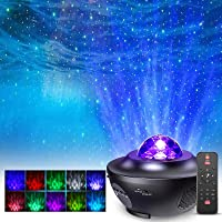 Lampe Projecteur LED Étoile, Projecteur de Veilleuse Rotatif avec 21 Modes & Télécommande & Timer & Enceinte & Bluetooth…