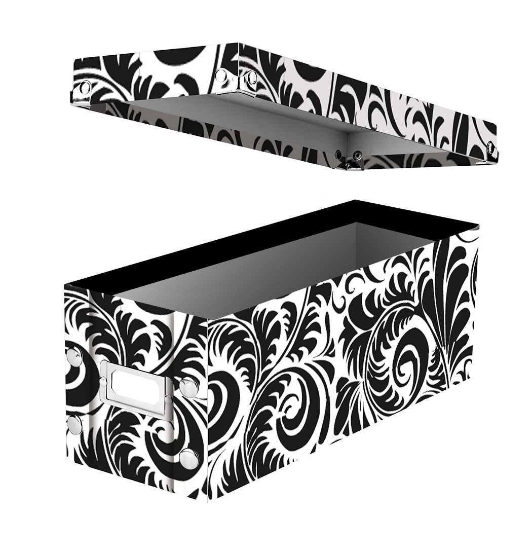 snapnstore dvd storage boxes 155 x 55 x inches black 2 boxes per pack sns01618 by idea storm amazonin electronics