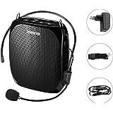 Zoweetek® Amplificador portatil (10W) con 1800 mAh batería de Litio con un microfono para guías Maestros Profesores Artistas