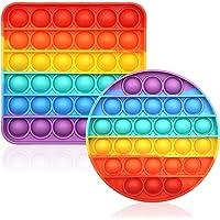 CENSUNG Fidget Toys,Jouets Sensoriels Rainbow Pop Bubble Fidget, Section Plus épaisse, Le son fort et clair,Anti Stress…