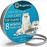 Sugelary Collare Antipulci per Gatti, Collare Antipulci Gatto Impermeabile Regolabile per 8 Mesi di Protezione, Collare…