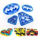 ilauke 4 Emporte-Pièces Super Héros Décorations de Biscuit (Super Héros)
