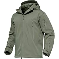 KEFITEVD Men's Waterproof Military Combat Jacket Tactical Soft Shell Fleece Jackets with Multi Pockets