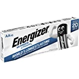 Energizer - Pack de 10 Pilas de Litio Ultimate Lithium AA, 3000 mAh, Family Pack