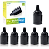 E27 lampfitting fitting E27 fitting bakeliet lampvoet schroefring voor DIY hanglampen zwarte lamphouder PEBA (6 stuks)