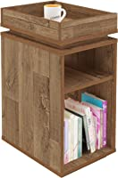Artely Olivia Side Table, Rustic, 61.5 cm x 30 cm x 40 cm