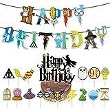 17 PCS Suministros Fiesta Mago Fiesta dekoration ZSWQ-Harry Potter Cumpleaños Decoración Banner Wizard Inspired Cupcake Toppe