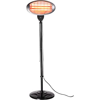 Firefly 2KW FreeStanding Water Resistant Infared Electric Garden Outdoor Indoor Patio Heater - 3 Power Settings