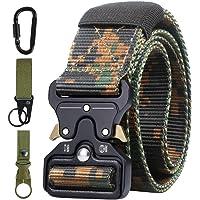 Ceinture Tactique en Nylon, Ceinture de Taille Tactical Heavy Duty Man Web Band Bracelet Militaire Réglable avec Boucle…