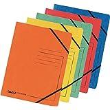 FALKEN Premium–Carpeta de cartón de extrafuerte Colorspan cartón de DIN A4con trenes de colores surtidos de goma 25Pack