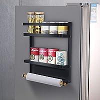 mreechan Etagere magnetique,Etagère Réfrigérateur Supports pour Papier Essuie-Tout Distributeur Pimenter Magnétique avec…