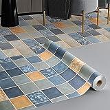 KINLO PVC vloerbedekking zelfklevende vloertegels slijtvast vinyl vloer 3 ㎡/rol Flisenoptiek plakfolie mat Flisensticker deco