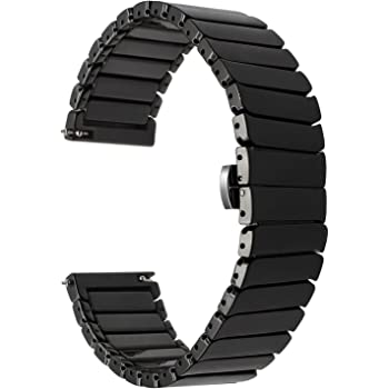 TRUMiRR For Gear S3 Watchband, 22mm Ceramic Band Quick Release Strap for Samsung Galaxy Watch 46 mm, Samsung Gear S3 Classic Frontier