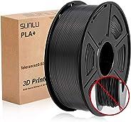 SUNLU PLA Plus nero, filamento PLA Plus 1.75 mm, Precisione dimensionale a basso odore +/- 0,02 mm, Filamento per stampa 3D,