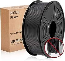 Filamento PLA Plus de la impresora SUNLU 3D, filamento PLA de 1.75 mm, filamento de impresión 3D de bajo olor, precisión...