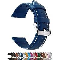 Fullmosa Bracelet Cuir Montre Femme Homme Fixation Rapide, Axus Series Watch Bracelet de Remplacement Cuir de Veau…