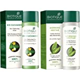 Biotique Bio Cucumber Pore Tightening Toner, 120ml And Biotique Morning Nectar Flawless Skin Lotion for All Skin Types, 190ml