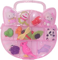 Parteet Different Cartoon Shape Erasers in A Box for Kids