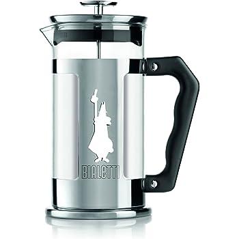 Bialetti Coffee Press Omino, Caffettiera pressofiltro, capacità 1 Litro (8 tazze), Acciaio Inox