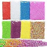 Swallowzy 8Pack Slime Beads, bolas de espuma de poliestireno Micro...