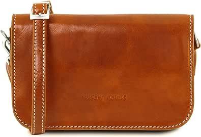 Tuscany Leather Carmen Tracollina in pelle con pattella