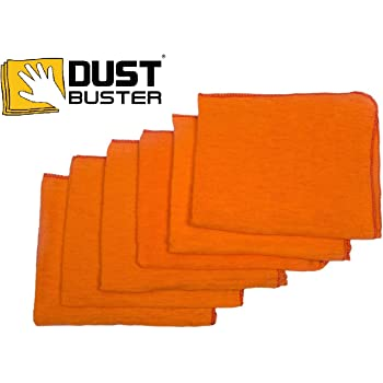 """Homestrap Dust Buster Duster Cloth - Orange (15""""X17"""") - Pack Of 6"""
