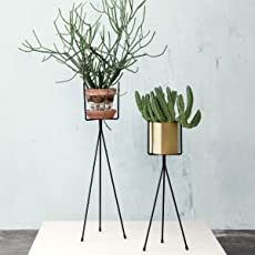 NAYAB (Set of 2) Tripod Plant Stand Without pots/Vintage/ Retro Iron Plant Stands Made from high Quality Iron/Pot Stands/Planter Stands |.