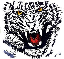 Temporary Tattoo For Girls Men Women Big Tiger Face Arm Hand Sticker Size 21x15CM - 1PC.