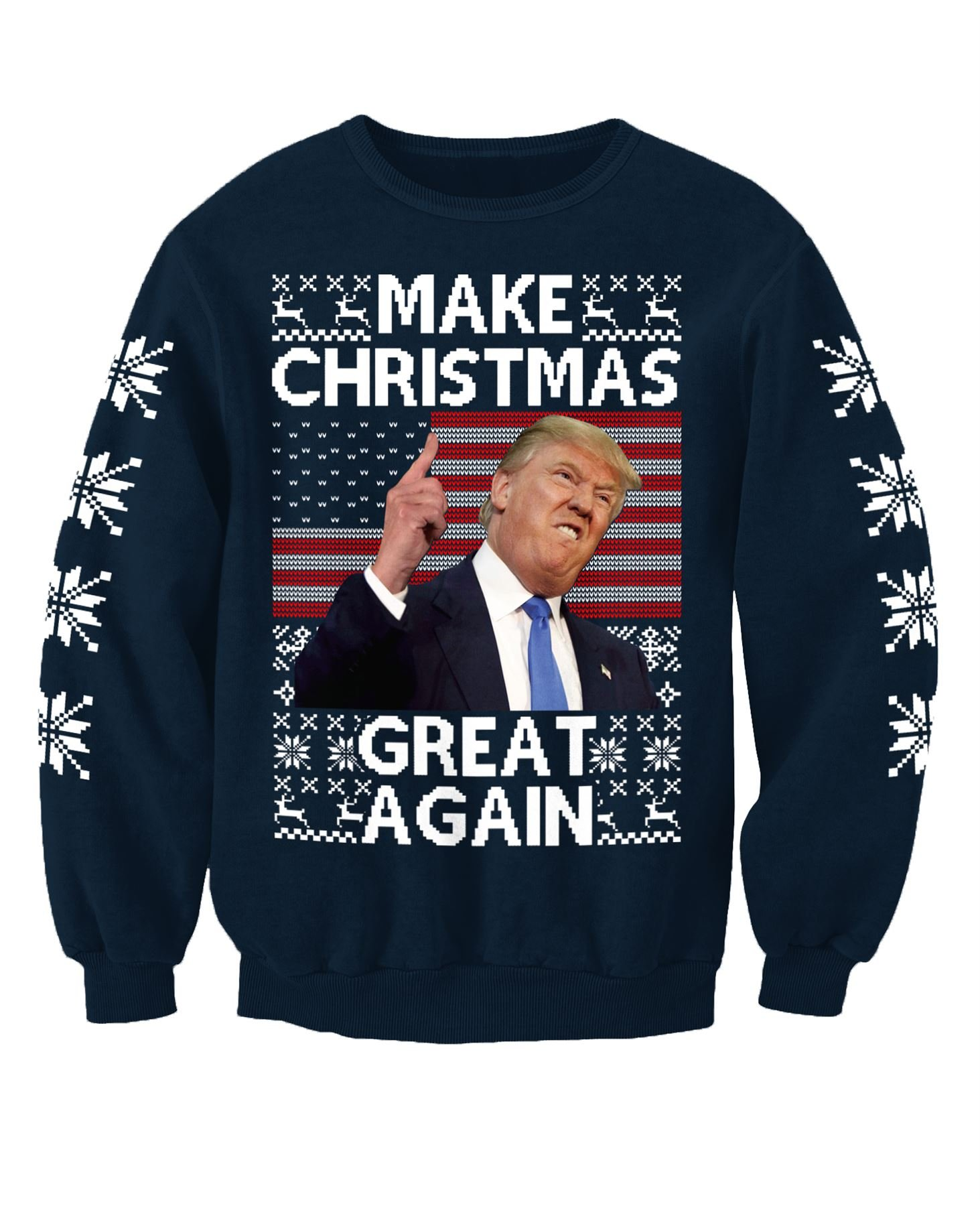 top-rated genuine unique design huge range of Donald Trump Make Christmas Great Again Adults Novelty Christmas Sweatshirt  Jumper - Christmas Jumpers UK