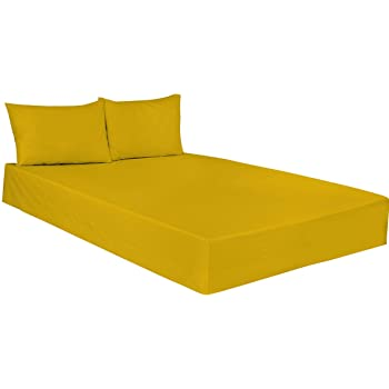 ARLINENS PLAIN DYED FITTED SHEETS IN FOLLOWING COLOURS AND SIZES (KING,  MUSTARD)