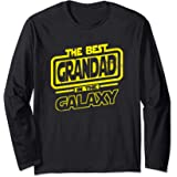 Grandad The Best In The Galaxy Gift Manche Longue