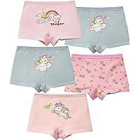 MiSense 5 Pezzi Mutandine Bambina Cotone Mutande Culotte Bimba Slip Bambine e Ragazze 2-11 Anni