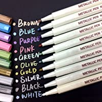 Beupro Marqueur Métallique Pens 10 couleurs