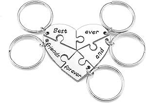 Jovivi BFF - Portachiavi a forma di puzzle per 3/4/5 Best friends forever and ever