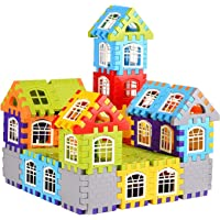 BUYBOXEE My Happy House Building Blocks Toys for Kids , Boys & Girls with Attractive Windows and Smooth Rounded Edges…