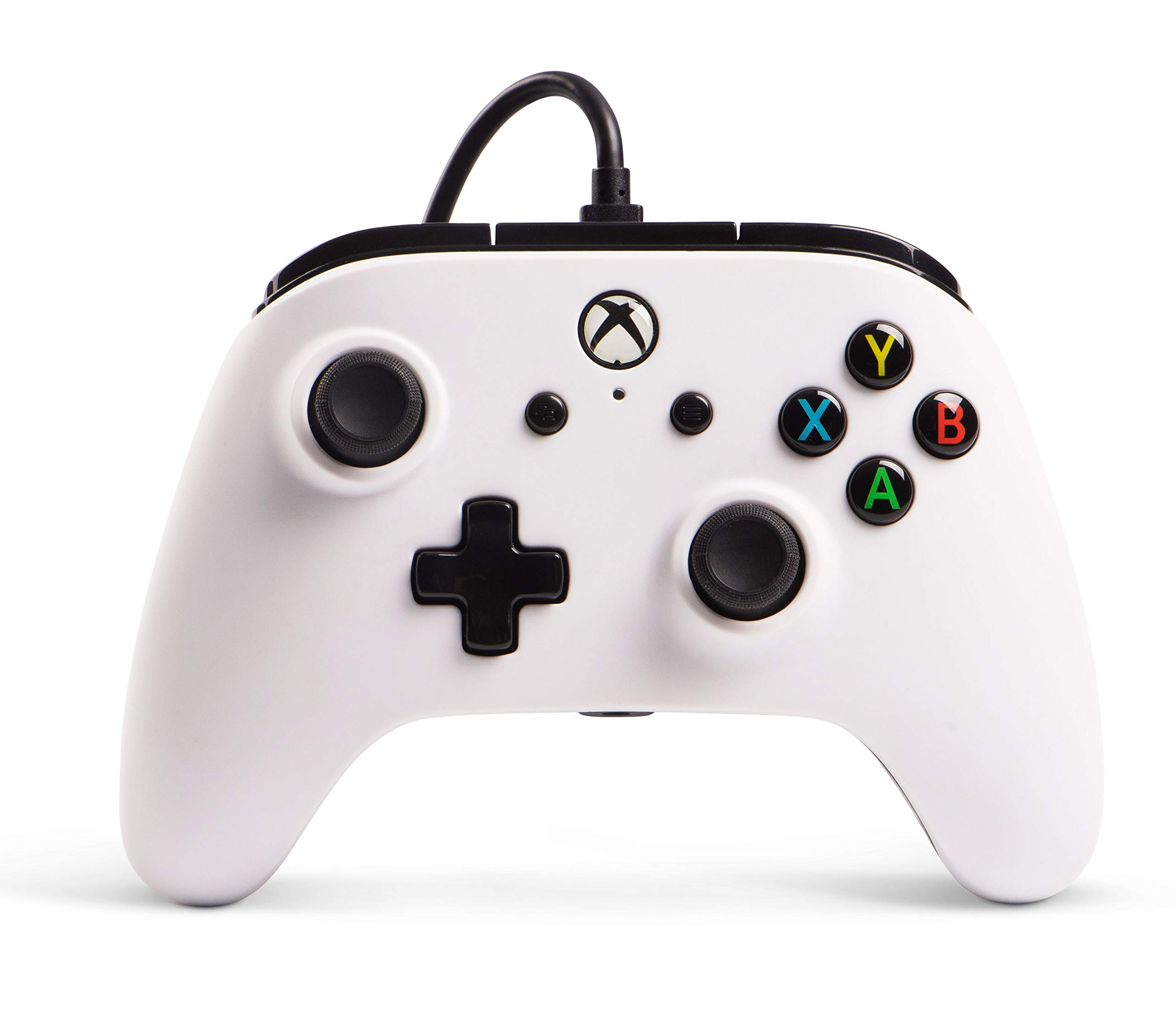 Controlador PowerA Wired con licencia oficial para  Xbox One, Xbox One S, Xbox One X und Windows 10 – Blanco