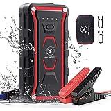 FLYLINKTECH Booster Batterie, 1500A 20000mAh Booster Batterie Voiture IP68 Étanche Démarrage de Voiture(Toute Essence, Jusqu'à 7.0L Diesel) avec Deux Ports USB à Charge Rapide 3.0, certifié UL