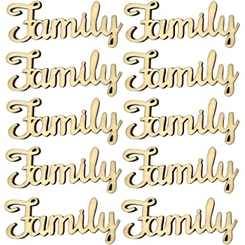 wooden mdf family word script for family tree crafts 3cm x 7cm