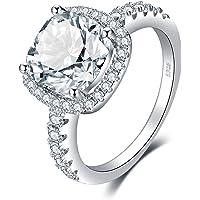 JewelryPalace Cuscino 3ct Diamante Simulato Zirconi Anniversario Matrimonio Promessa Anello Donna, Anelli Donna Argento…