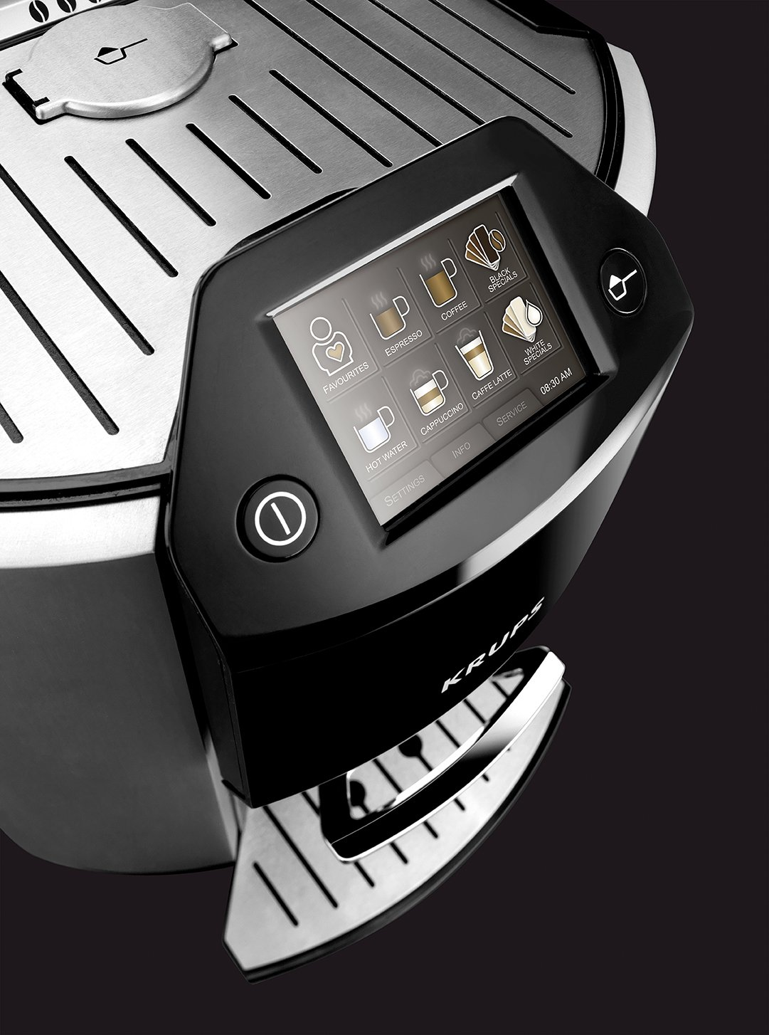 Krups-EA9010-Kaffee-Vollautomat-One-Touch-Funktion-17-L-15-bar-Touchscreen-Display-Milchbehlter-silber