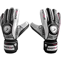 SPORTOUT Youth Adult Goalie Goalkeeper Gloves,Football gloves, Strong Grip for The Toughest Saves,With Finger Spines For…