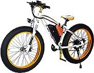 Aest Top 012 Fat E Bike - White Orange (26 Inch)