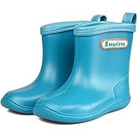 TRIWORIAE-Stivali di Gomma Stivali da Pioggia per Bambini Morbide Scarpe Antipioggia PVC Impermeabile Wellies Wellington…
