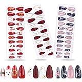 FLOFIA 72 Stück Weihnachten Falsche Fingernägel zum Aufkleben Kunstnägel Selbstklebend Künstliche Nägel zum Aufkleben…