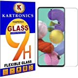 Kartronics Compatible with Samsung A52 Premium Tempered Glass Screen Protector Slim 9H Hard 2.5D with Full Installation Kit a